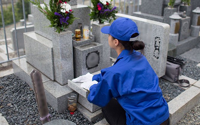 墓石の補修